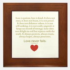 1 Corinthians 13 Framed Tile