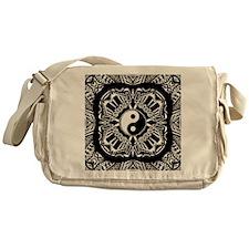 Yin and Yang on Intricate Pattern Messenger Bag