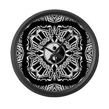 Yin and Yang on Intricate Pattern Large Wall Clock