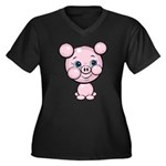 Cutie Cartoon Pig Piglet Cute Art Women's Plus Siz