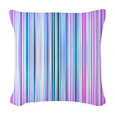 Stripes - Purple Woven Throw Pillow