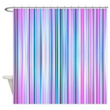 Stripes, Purple Shower Curtain