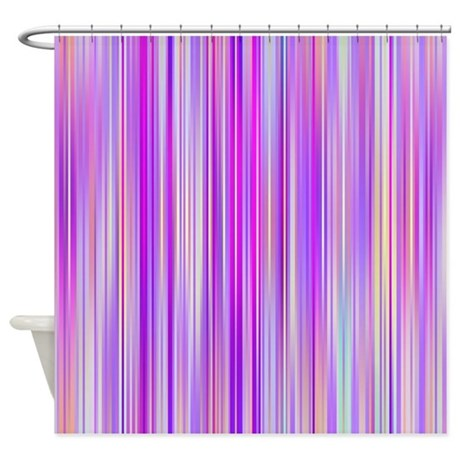 Stripes Purple Shower Curtain By Ornaartzi