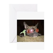 Chill'n Frenchie Greeting Cards