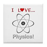 I Love Physics Tile Coaster