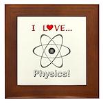 I Love Physics Framed Tile