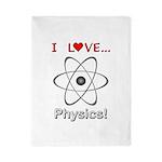 I Love Physics Twin Duvet