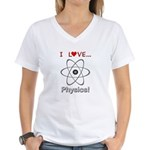 I Love Physics Women's V-Neck T-Shirt