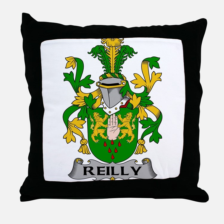 Reilly Family Crest Throw Pillow