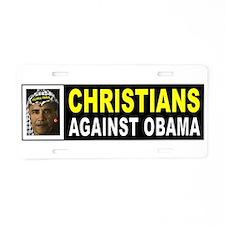 OBAMA CHRISTIAN BUMPER_001 Aluminum License Plate