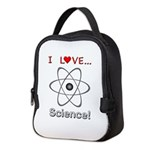I Love Science Neoprene Lunch Bag