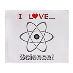 I Love Science Throw Blanket