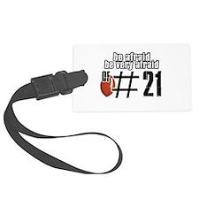 Number 21 football designs Luggage Tag