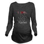 I Love Physics Long Sleeve Maternity T-Shirt