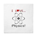 I Love Physics Queen Duvet