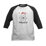 I Love Physics Kids Baseball Jersey