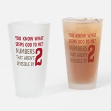 Odd Even Numbers Drinking Glass