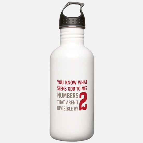 Odd Even Numbers Water Bottle