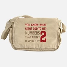 Odd Even Numbers Messenger Bag