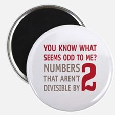 """Odd Even Numbers 2.25"""" Magnet (10 pack)"""