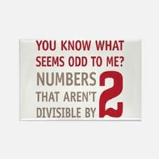Odd Even Numbers Rectangle Magnet