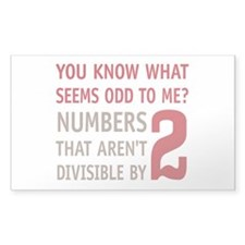 Odd Even Numbers Stickers