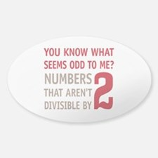Odd Even Numbers Decal