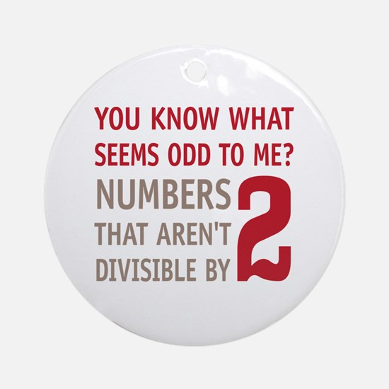 Odd Even Numbers Ornament (Round)