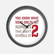Odd Even Numbers Wall Clock