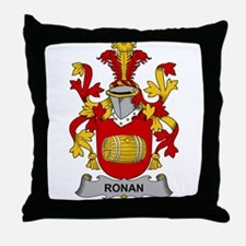Ronan Family Crest Throw Pillow