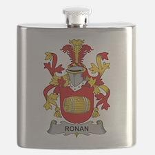 Ronan Family Crest Flask