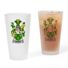 Rooney Family Crest Drinking Glass