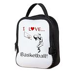 I Love Basketball Neoprene Lunch Bag