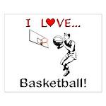 I Love Basketball Small Poster