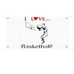 I Love Basketball Banner