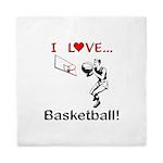 I Love Basketball Queen Duvet