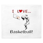I Love Basketball King Duvet
