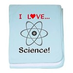 I Love Science baby blanket