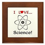 I Love Science Framed Tile