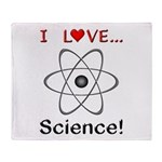 I Love Science Throw Blanket
