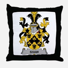 Shaw Family Crest Throw Pillow