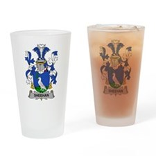 Sheehan Family Crest Drinking Glass