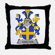 Shelton Family Crest Throw Pillow