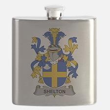Shelton Family Crest Flask