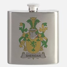 Sheridan Family Crest Flask