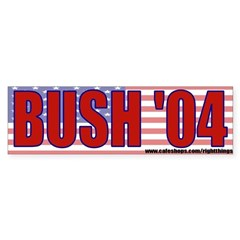 George Bush 2004 Bumper Sticker