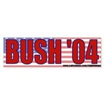 George Bush 2004 Bumper Sticker