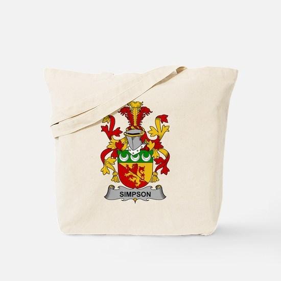 Simpson Family Crest Tote Bag