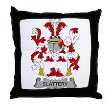 Slattery Family Crest Throw Pillow
