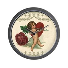 Vintage Valentine's Day Wall Clock